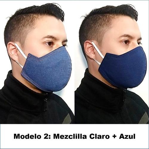 mascarilla 3 capas reutilizable 100% segura (prueba spray)