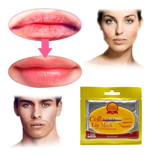mascarilla colágeno labios anti-edad hidrata suaviza 2043