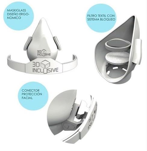 mascarilla con filtros 3d inclusive