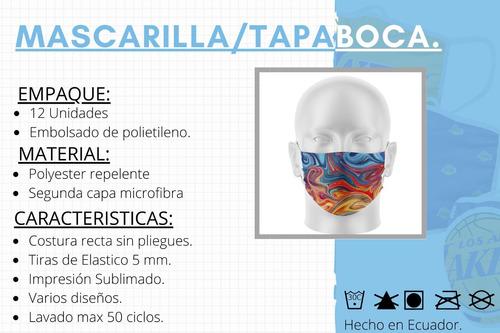 mascarilla con visor / sublimado