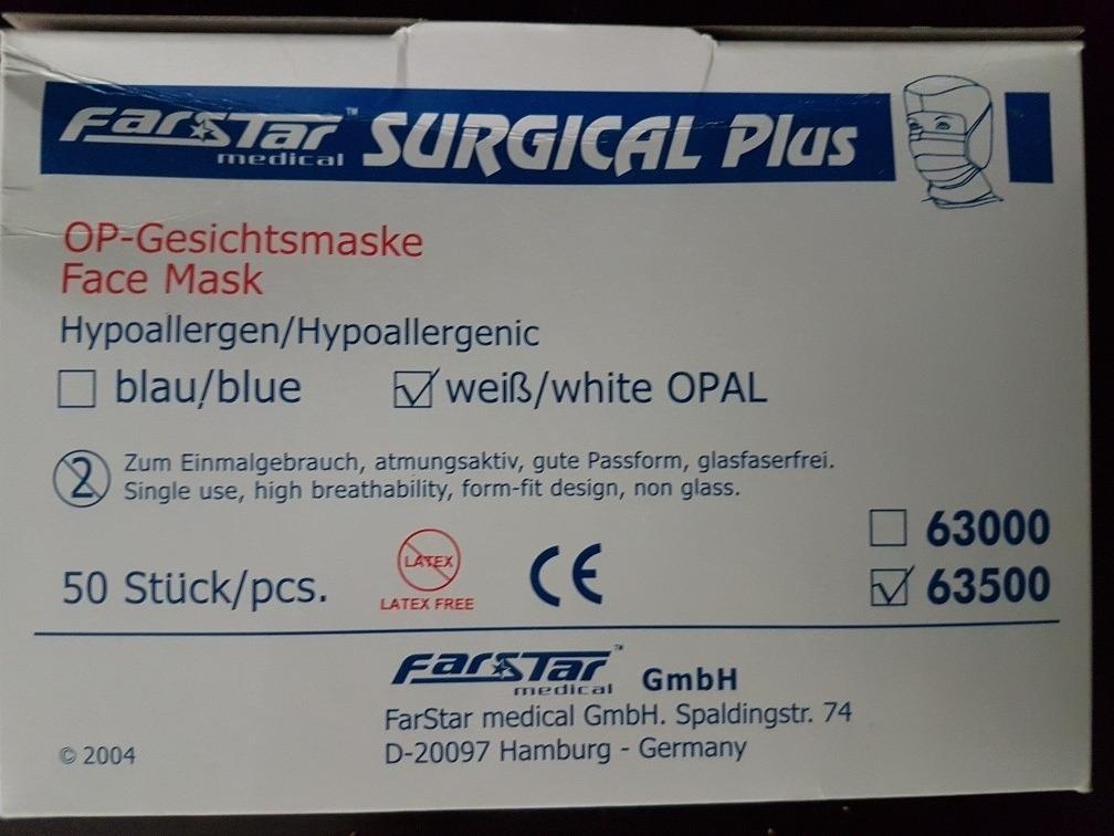 maske farstar surgical plus blau