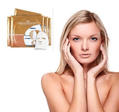 mascarilla de colageno cara facial con acido hialuronico