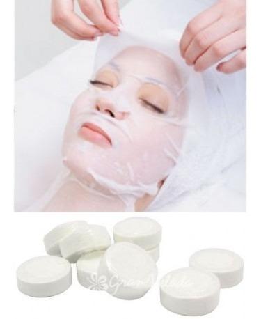 mascarilla facial comprimida pastilla papel celulosa natural