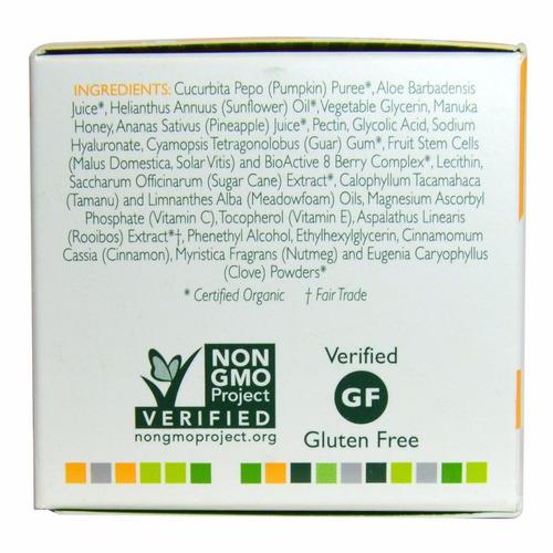 mascarilla glicólica + calabaza y miel,50 ml de 50 gr