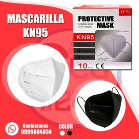 Mascarilla Kn95  Importada  Paq X 10 Unidades Blanca Y Negra