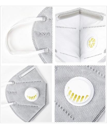 mascarilla n95 con válvula y filtro, 1 unidad