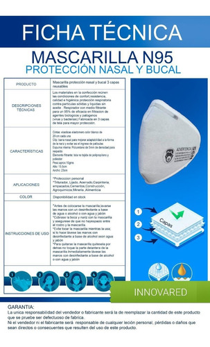 mascarilla n95 nacional 3 capas