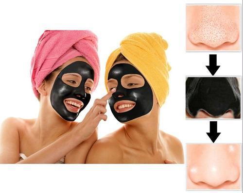 mascarilla negra pilaten puntos negros x3 uni acné promoción