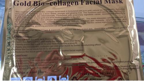 mascarilla oro 24k colageno  revitalizante hidratante