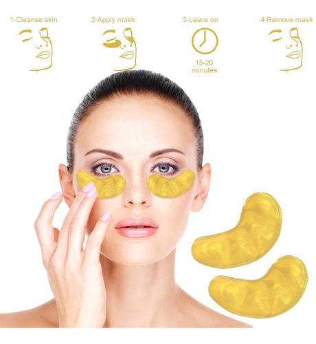mascarilla oro anti ojeras colágeno anti arrugas