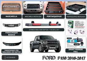 Accesorios Para Trocas Ford F150 >> Mascarilla Parachoque Raptor Estribo Ford F150 2016 2017