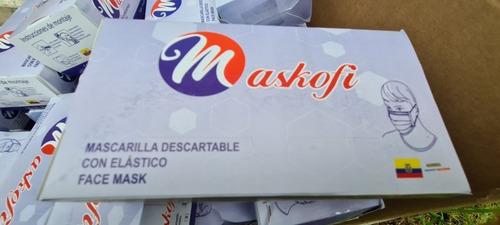 mascarilla quirurgica 3 capas clip nasal term reg. sanitario