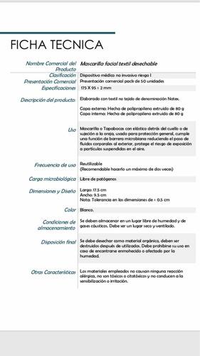 mascarilla quirúrgica notex 160gr autorizada minsa