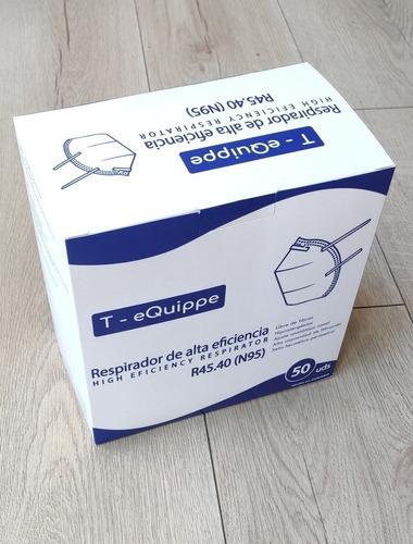 mascarilla / respirador 45.40 (n95) blanco x 50 unidades
