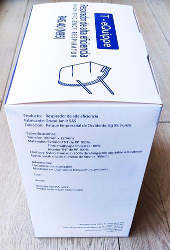 mascarilla / respirador 45.40v (n95) con válvula x 50ud