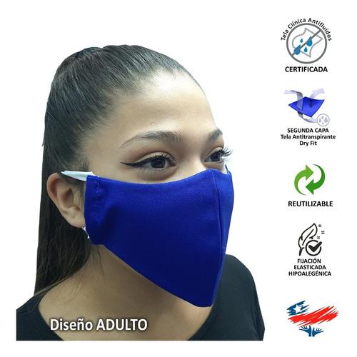 mascarilla reutilizable antifluidos y segunda capa dry fit