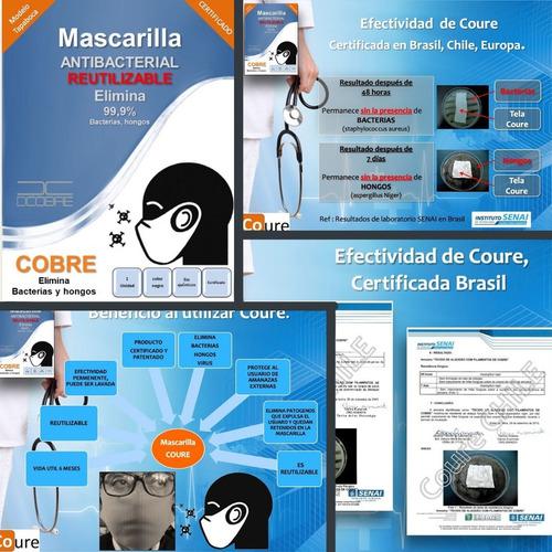 mascarilla reutilizable x6mese de cobre,efectividad