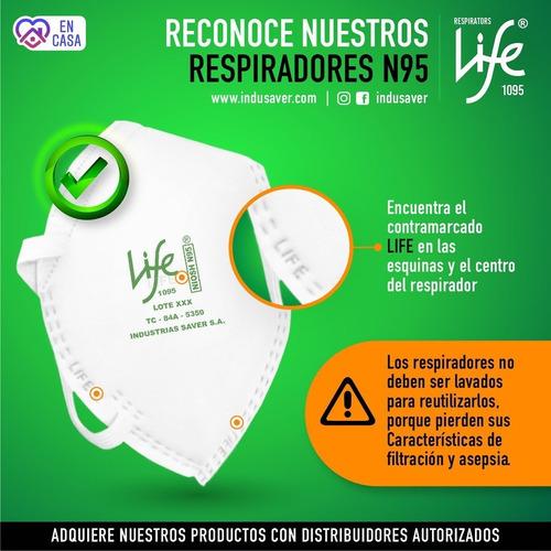 mascarilla/ tapabocas/ respirador life n95. por 30 unidades