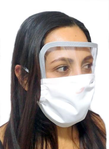 mascarilla tela 3 pliegues protector ojos norma minsa 10 un