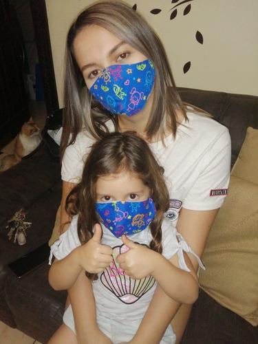 mascarillas antifluidos adulto y niñoy protectores faciales