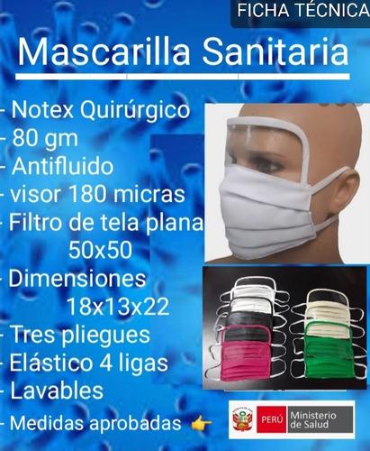 mascarillas desde 1.70  protector facial / ojos minsa