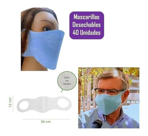 mascarillas desechables 40 unid mejor calidad prolipropileno