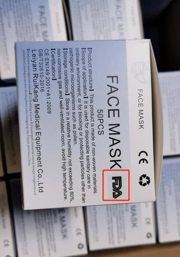 mascarillas k n95 ffp2,certificado ce y fda  4 capas 14 sole