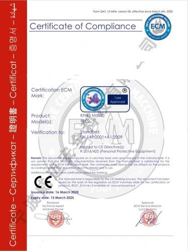 mascarillas kn95 pack 10 un certificada