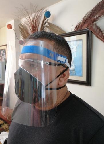 mascarillas kn95 y protector facial lamina gruesa