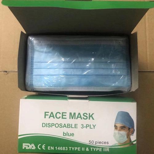 mascarillas médicas tipo iir (50 piezas desechables)