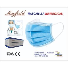 Mascarillas Quirurgicas Mayfield Original 3 Pliegues