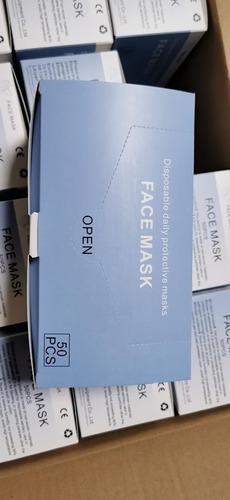 mascarillas tres capas  certificacion ce y fda caja 110