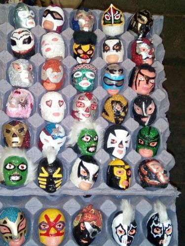 mascaritas de plástico luchadores tradicionales