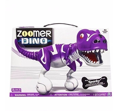 mascota electronica zoomer dino - sparky - purple nuevo