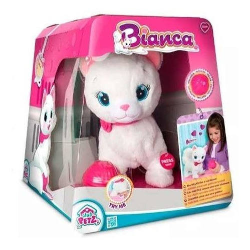 mascota interactiva gatita bianca club petz creciendo