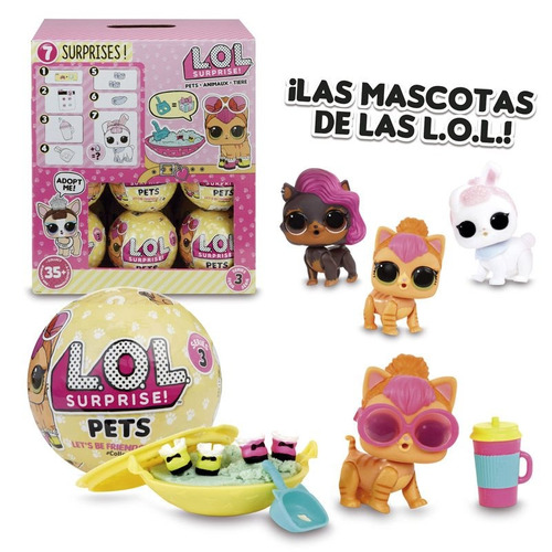 mascota lol surprise pets serie 3  7 capas cottontail qt