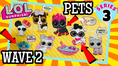 mascota lol surprise pets serie 3 hoops dogg