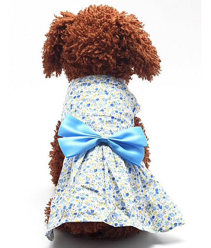 mascotas perro gato falda del vestido del arco de prendas