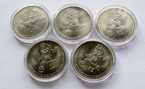 mascote - 5 moedas - copa da russia - 2018 - flor de cunho