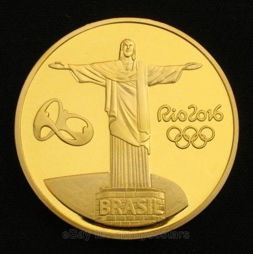 mascote vinicius olimpiadas rio 2016 - moeda medalha ouro