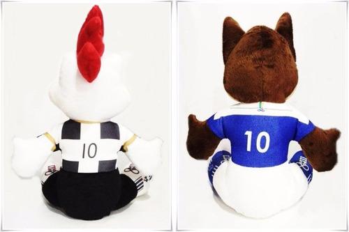 mascotes de pelúcia cruzeiro e atlético mg - promoção