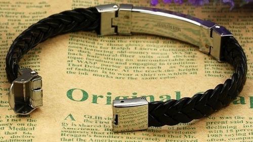 masculina aço pulseira