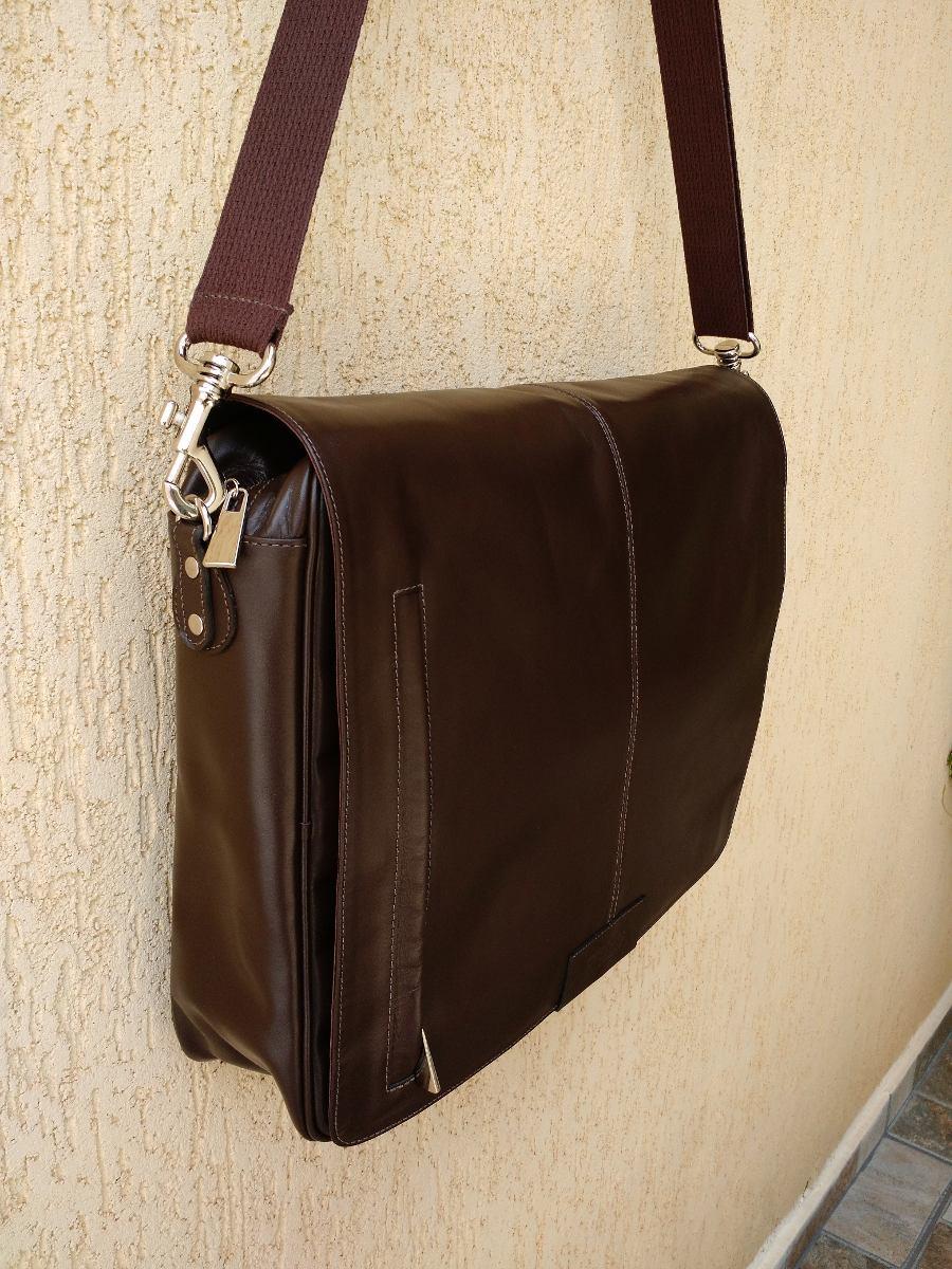 Bolsa De Couro Masculina Mercado Livre : Bolsa pasta notebook masculina marrom em couro leg?timo