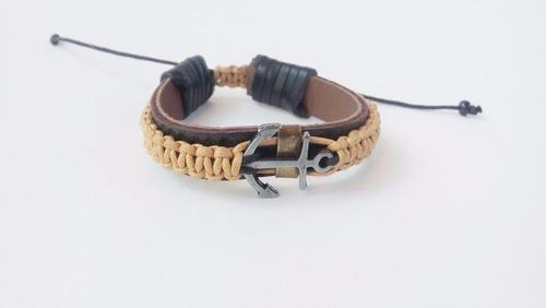 masculina couro pulseira