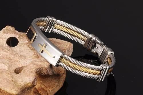masculina ouro pulseira