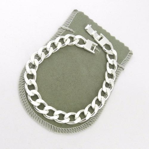 masculina prata pulseira