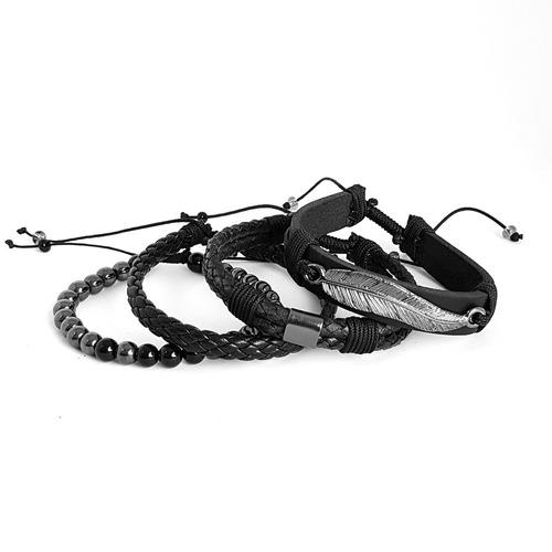masculinas couro pulseiras