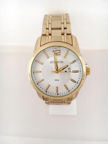 5bcf974ba2b masculino atlantis relógio. Carregando zoom... relógio masculino dourado  barato social aço luxo atlantis