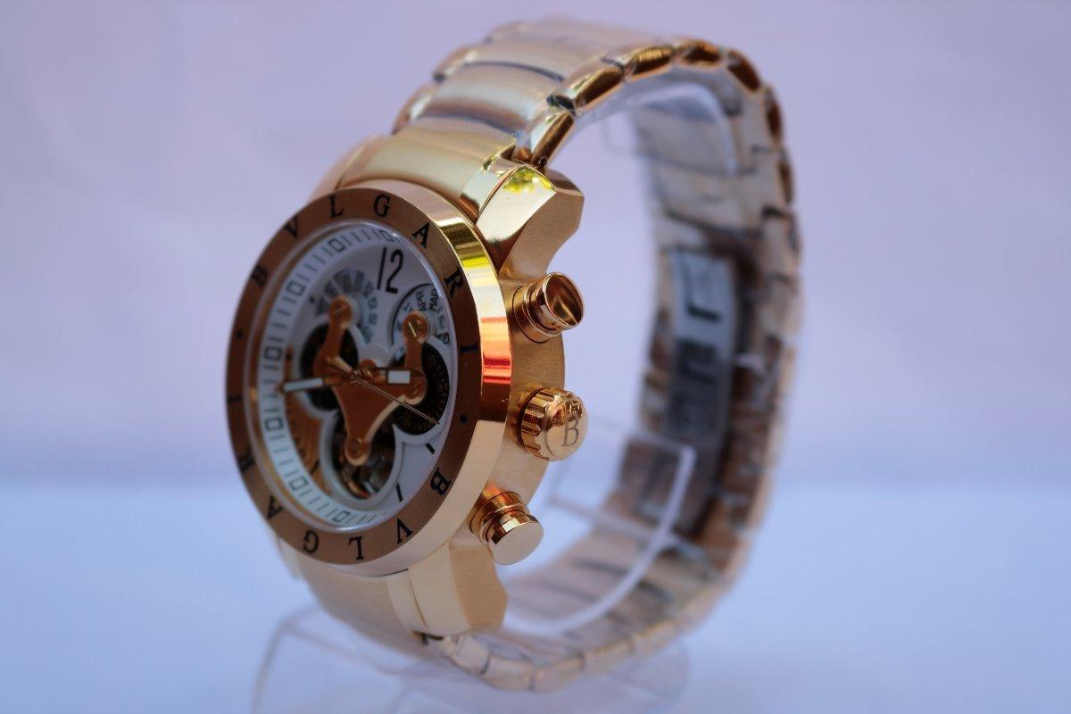 c651ab08983 Carregando zoom... 4 relógio masculino bvlgari automático dourado - promoção