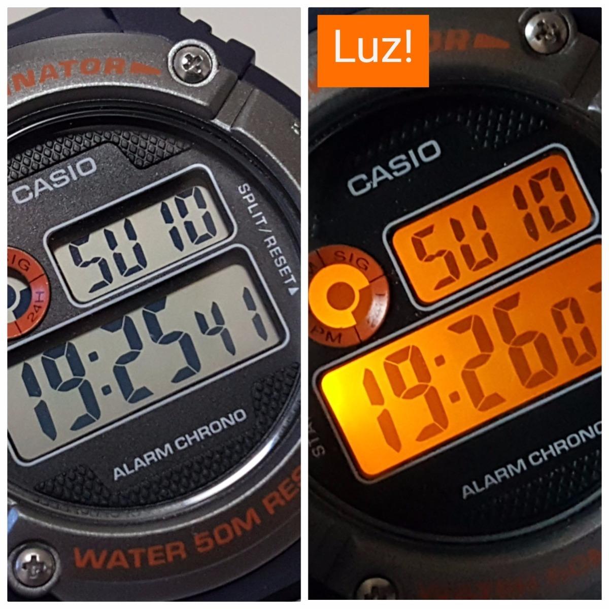 ae7932bf188 Relógio Masculino Digital Casio Cronômetro Luz W-216h-2bvdf - R  229 ...